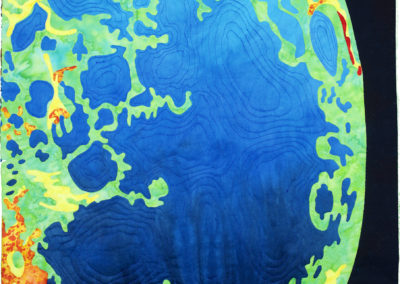 Pseudo Lunar Topography by Meggan Czapiga