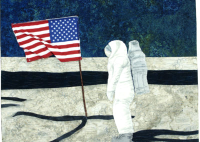 The Stars and Stripes on the Moon